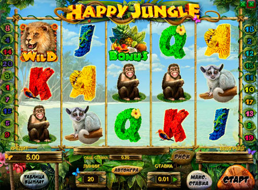 Happy Jungleオンラインプレイスロット