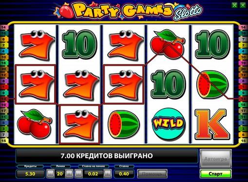 リールスロットParty Games Slotto