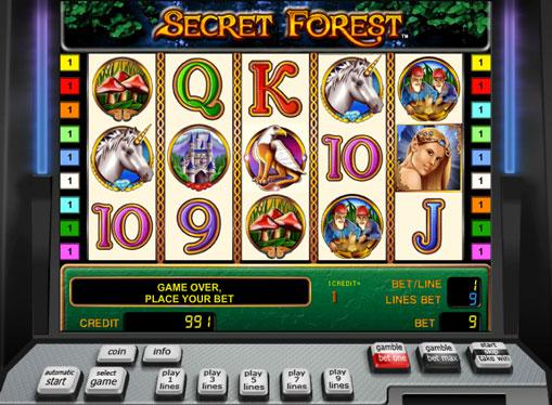 Secret Forestお金を得るためにスロットをオンラインでプレイ